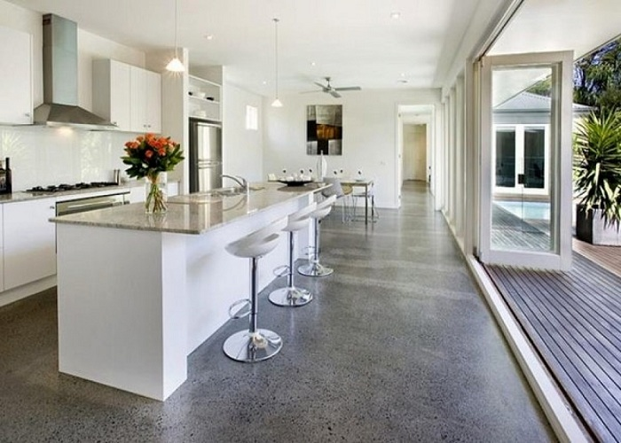 Polished and Smooth Flooring - Kitchen Remodeling Ideas - ET Painting