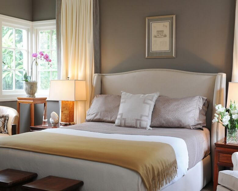 Gray and Yellow - bedroom paint colors