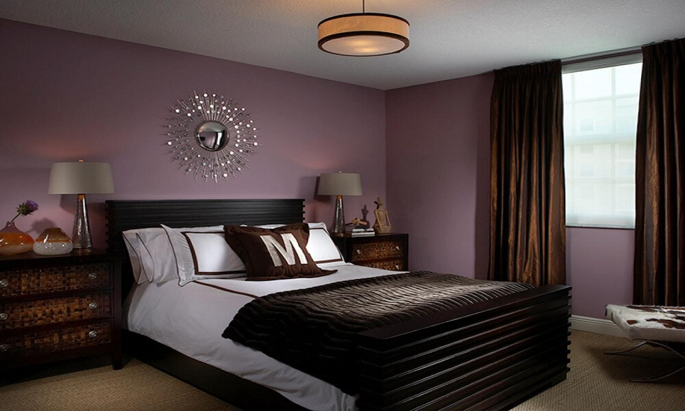 Purple Dream - modern bedroom paint colors