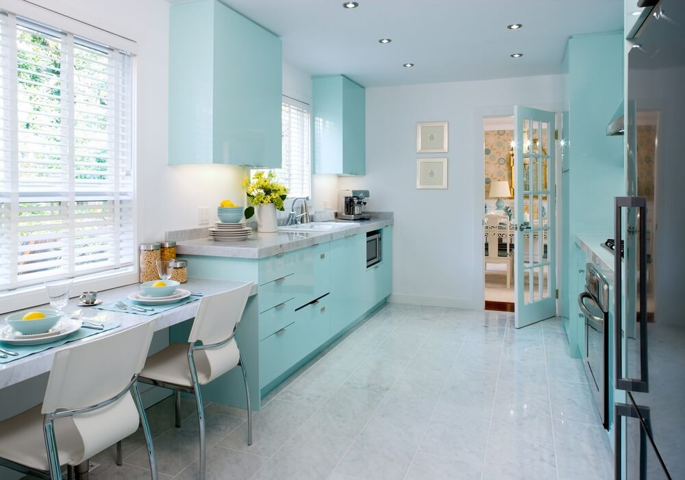 Tiffany Blue - popular kitchen paint colors