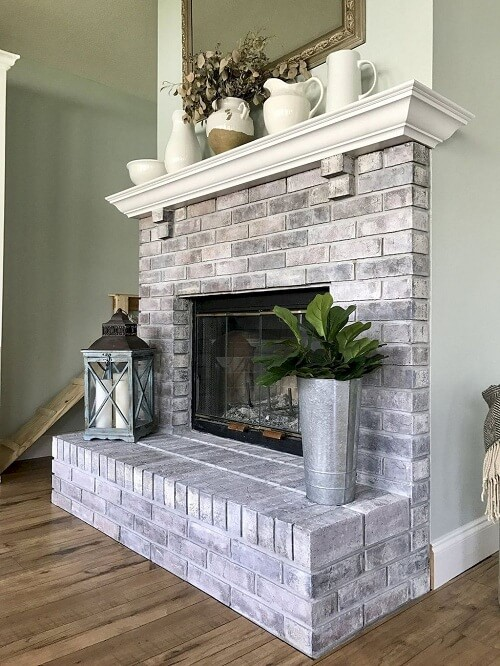 White Washing the Fireplace - Executive Touch Painters